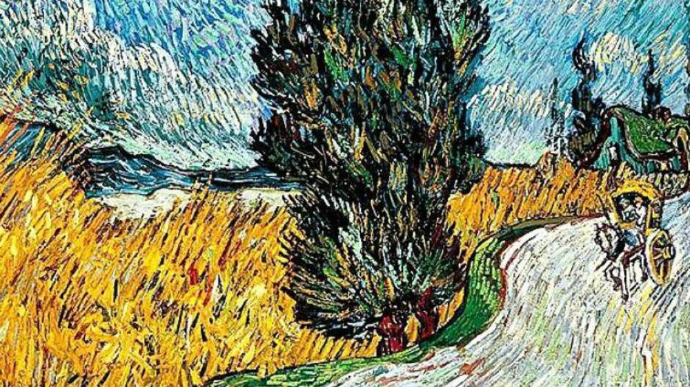 """Sentiero di notte"", Provenza vista da Vincent Van Gogh"
