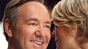 Kevin Spacey con Robin Wright in House of CardsKevin Spacey con Robin Wright in House of Cards