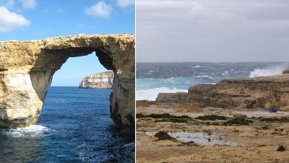 Crolla la finestra azzurra simbolo di malta mondo il - Finestra sul mare malta ...