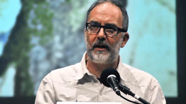 """Carlo Presotto, autore, assieme a Diego Dalla Via, del testo """"Memorie del nostro fugimento"""""""