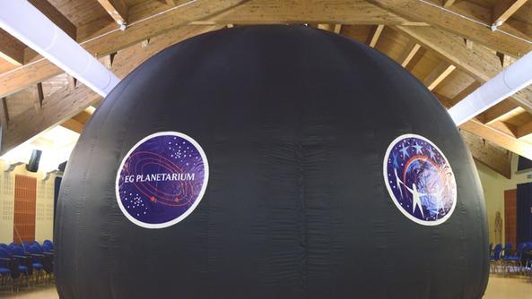 Il planetario che sarà posizionato all'ingresso dell'ospedale. S.P.