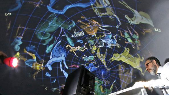 Il planetario di Di Luccio in ospedale. FOTO STELLA