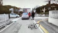 L'incidente tra la bici e l'auto è avvenuto in via Sant'Angelo.  MA.BI.