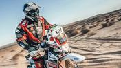 Franco Picco con la sua Yamaha è in gara all'Africa Eco Race 2019