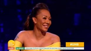 Mel B durante il programma Piers Morgan's Life Stories