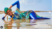 Uno scatto di Halima con hijab e burkini su Sports Illustrated