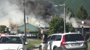 L'incendio in via Sisemol