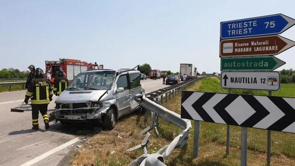 L'incidente mortale di Latisana (foto Messaggero Veneto)
