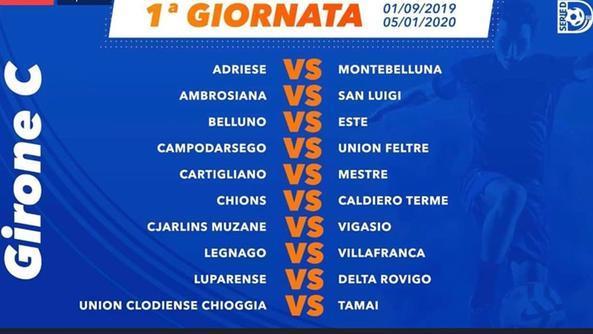 Fiera Vicenza 2020 Calendario.Cartigliano Debutto Contro Il Mestre Ecco Il Calendario