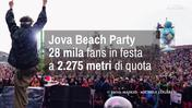 Jova Beach Party: 28 mila fans in festa a 2.275 metri di quota
