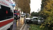 Incidente a Bagnolo di Lonigo (FOTO ZONIN)