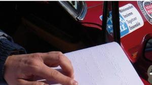 Un road-book in braille consente ai non vedenti di partecipare ai rally