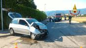 L'incidente in via Cappellina a Bassano del Grappa