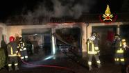 Arzignano, incendio garage