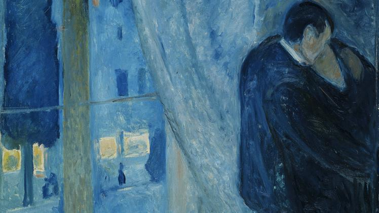 Edvard Munch - Kiss by the window (1892)