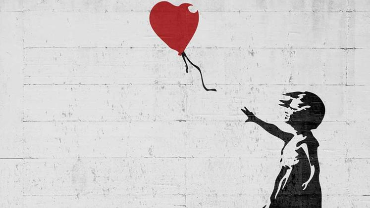 "Banksy, ""Girl with Baloon"""