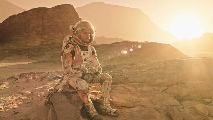 "Una scena dal film ""The Martian"""