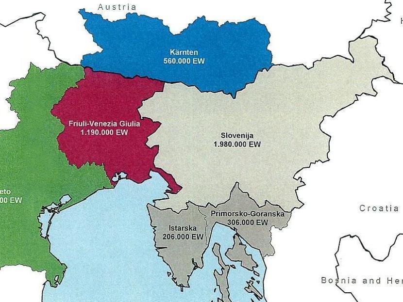 Cartina Del Veneto E Friuli.Nasce Euregio Senza Confini Obiettivo Fondi Ue G Di Vicenza